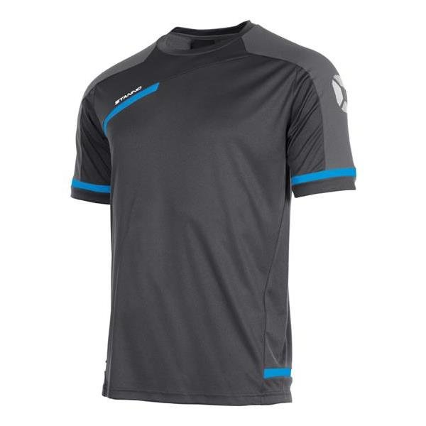 Stanno Prestige Dark Grey/Blue T-Shirt