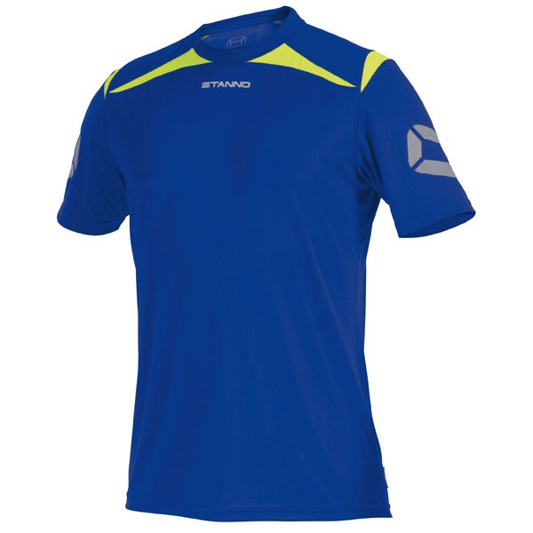 Stanno Forza Deep Blue/Neon Yellow T-Shirt