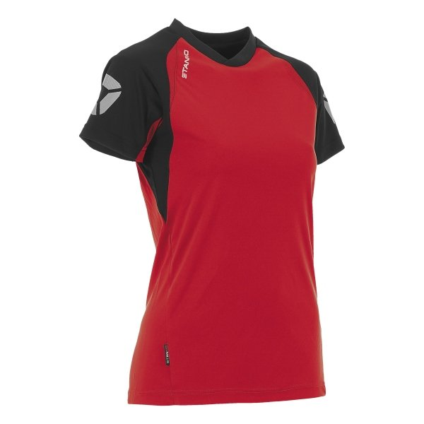 Stanno Riva T-Shirt Red/Black Ladies