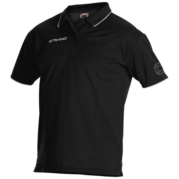 Stanno ClimaTec Black/White Polo Shirt