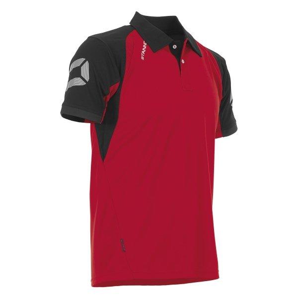Stanno Riva Polo Shirt Red/Black