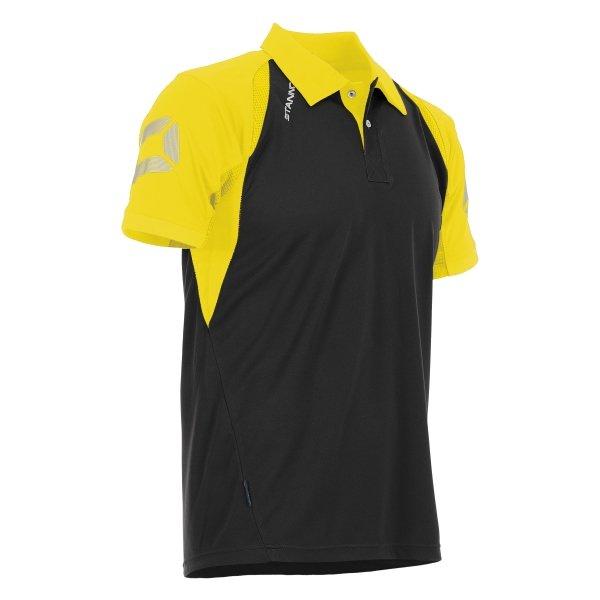 Stanno Riva Polo Shirt Black/Yellow