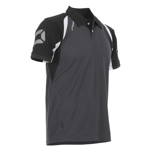 Stanno Riva Polo Shirt Anthracite/Black
