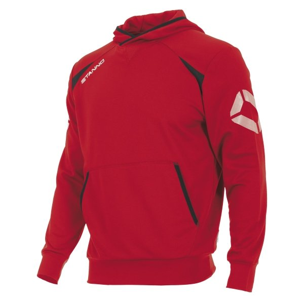 Stanno Centro Hooded Sweat Red/Black