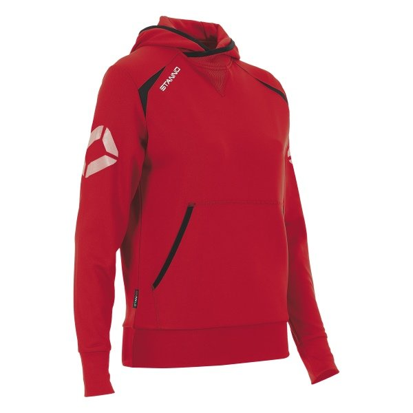 Stanno Centro Hooded Sweat Ladies Red/Black