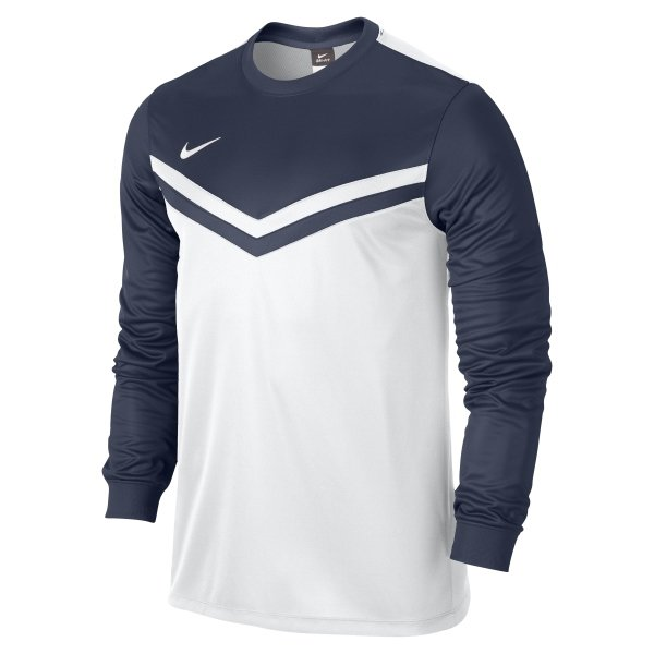 Nike Victory II Long Sleeve Football Shirt White/black