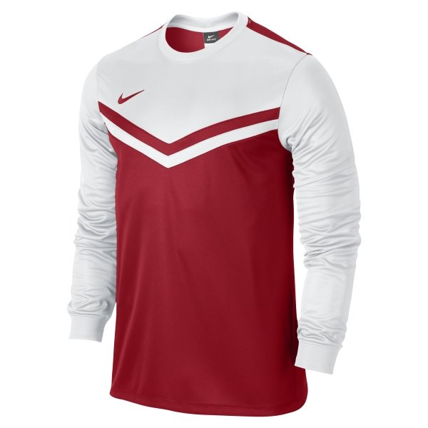 1d982196d Nike Victory II University Red White Long Sleeve Football Shirt
