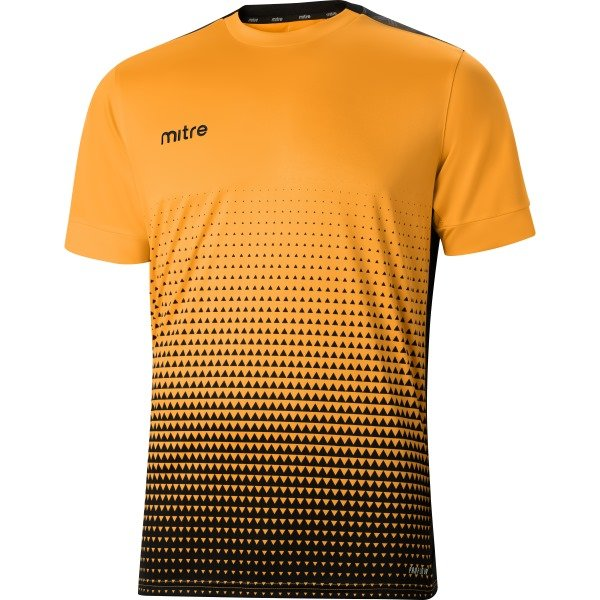 Mitre Ascent Football Shirt Yellow/black