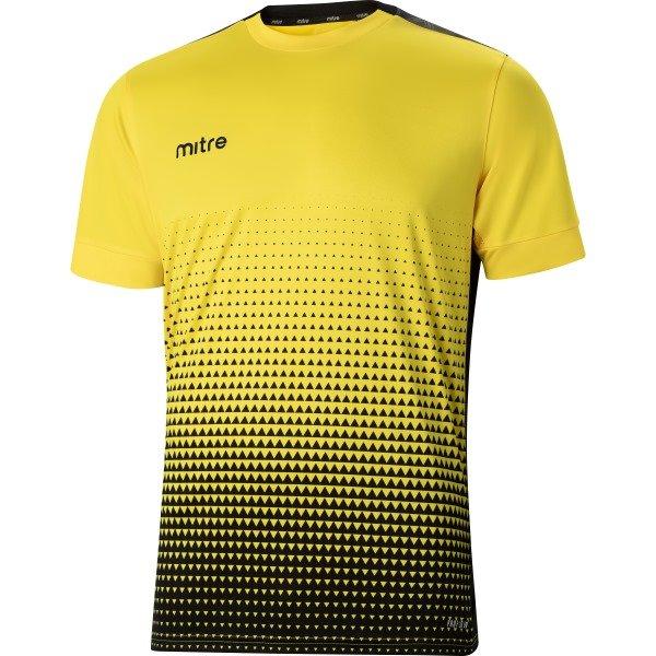 Mitre Ascent Yellow/Black Football Shirt