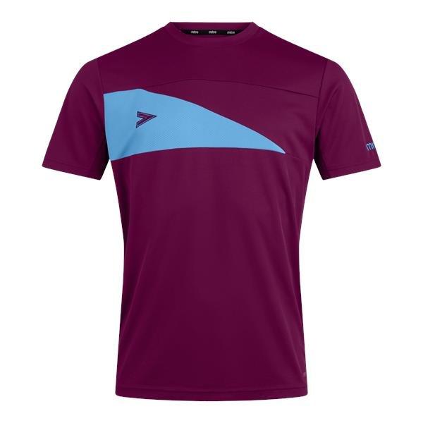 Mitre Delta Plus Maroon/Sky T-Shirt