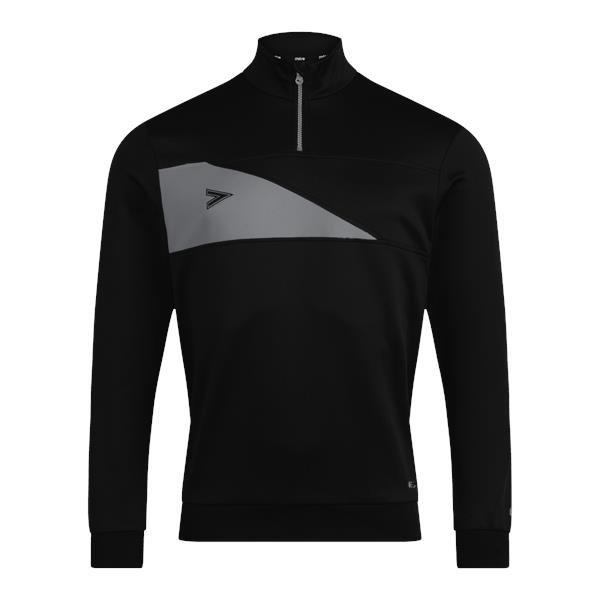 Mitre Delta Plus Black/Grey 1/4 Zip Top