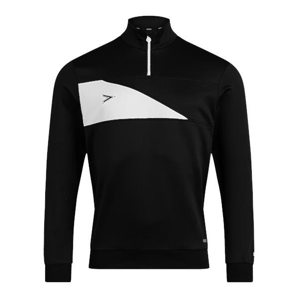 Mitre Delta Plus Black/White 1/4 Zip Top