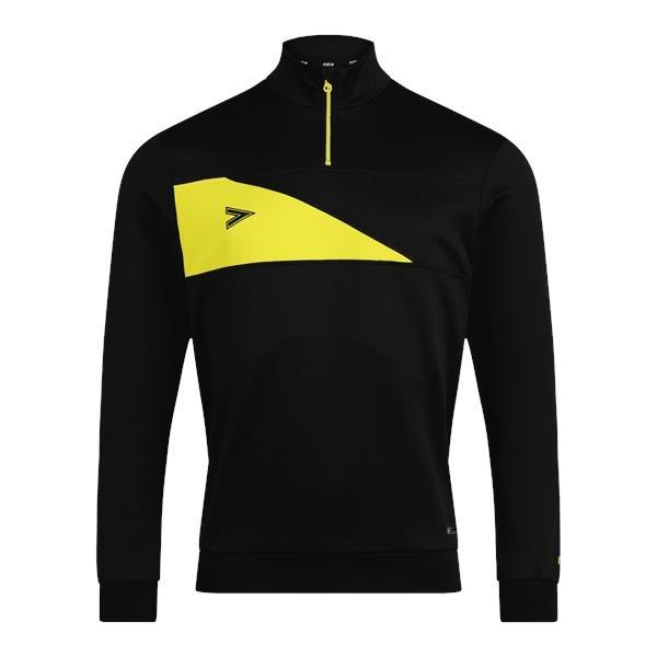Mitre Delta Plus Black/Yellow 1/4 Zip Top