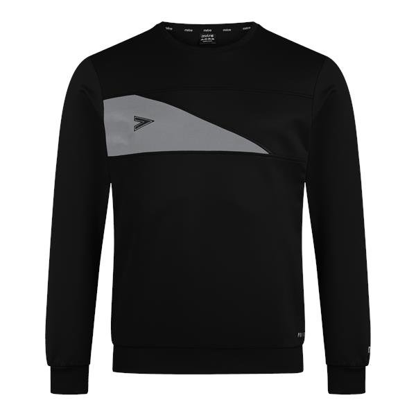 Mitre Delta Plus Black/Grey Crew Top