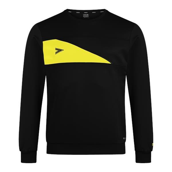 Mitre Delta Plus Black/Yellow Crew Top