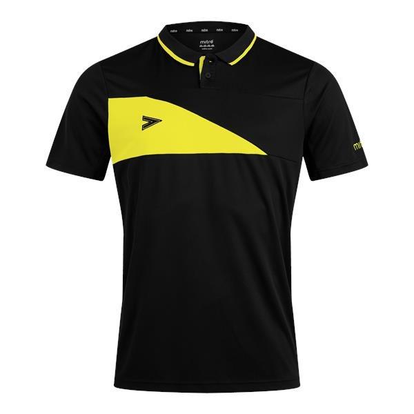 Mitre Delta Plus Black/Yellow Polo