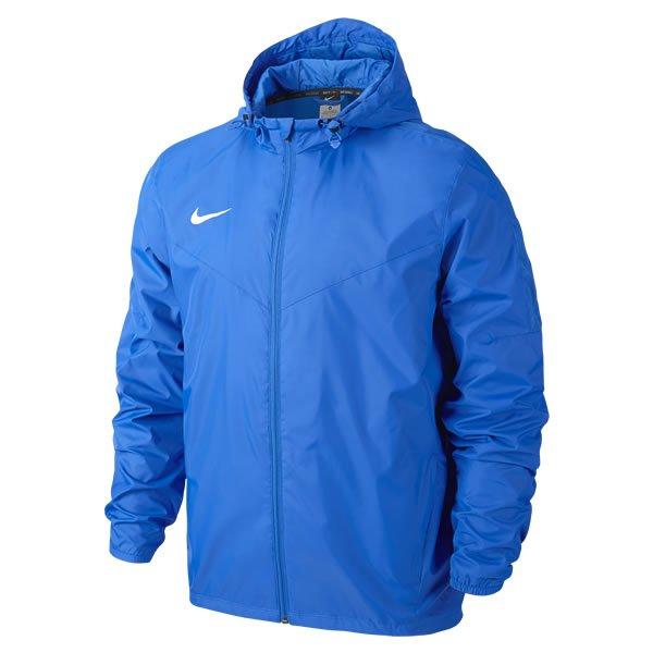 Nike Team Sideline Black/White Rain Jacket Royal/white