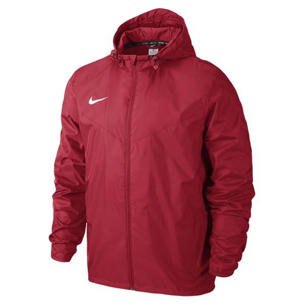 Nike Team Sideline Black/White Rain Jacket Uni Red/white