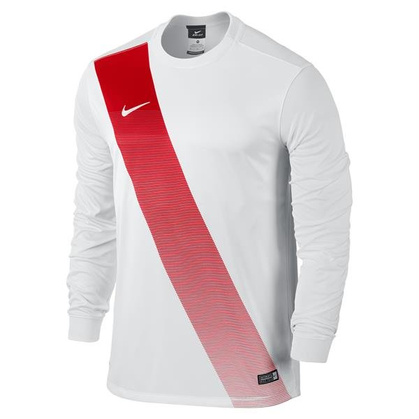 Nike Sash Long Sleeve Football Shirt White/uni Red