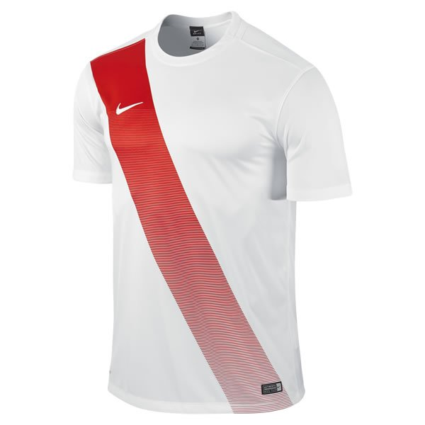 Nike Sash Short Sleeve Football Shirt White/uni Red