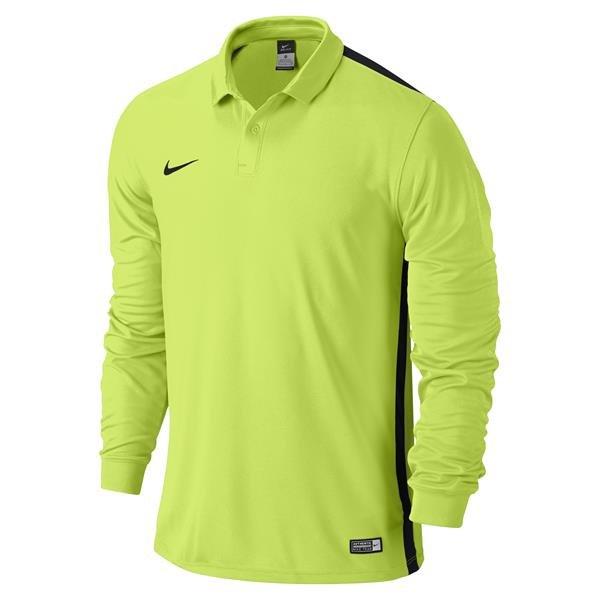 Nike Challenge Volt/Black Long Sleeve Football Shirt