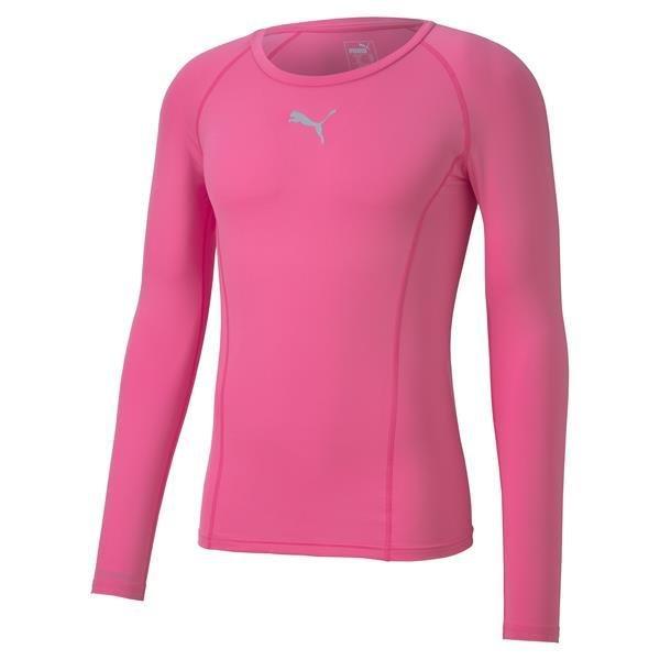 Puma Liga Baselayer LS Tee Pink Glimmer