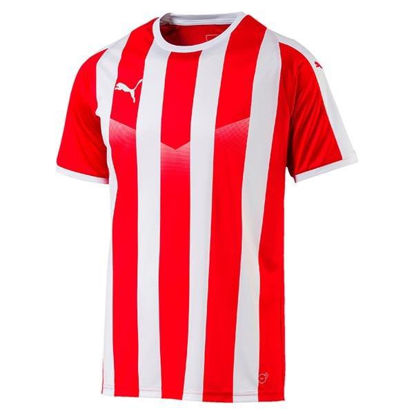 Puma Liga Striped Football Shirt Puma White
