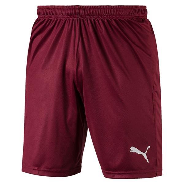 Puma Liga Core Football Shorts Cordovan/White