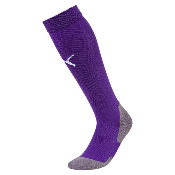 Puma Liga Core Prism Violet/White Goalkeeper Sock