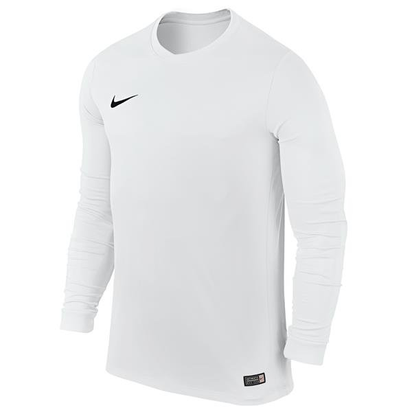 Nike Park VI LS Football Shirt White/Black