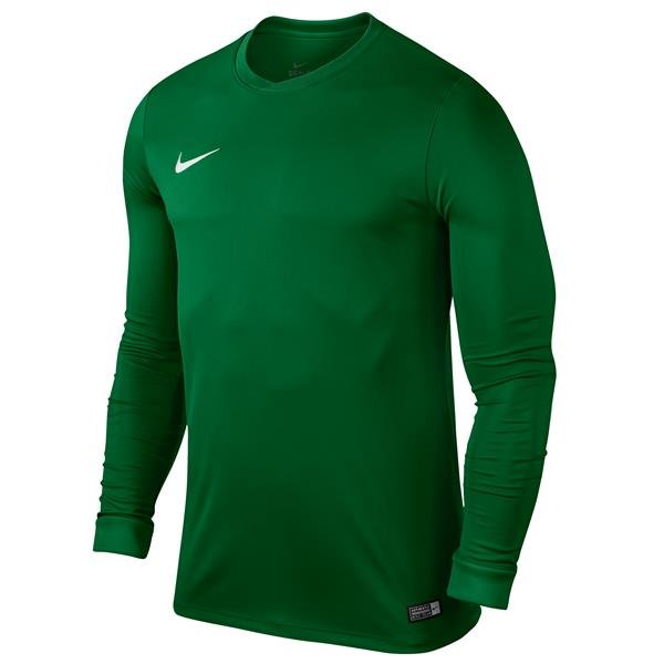 Nike Park VI LS Football Shirt Pine Green/White