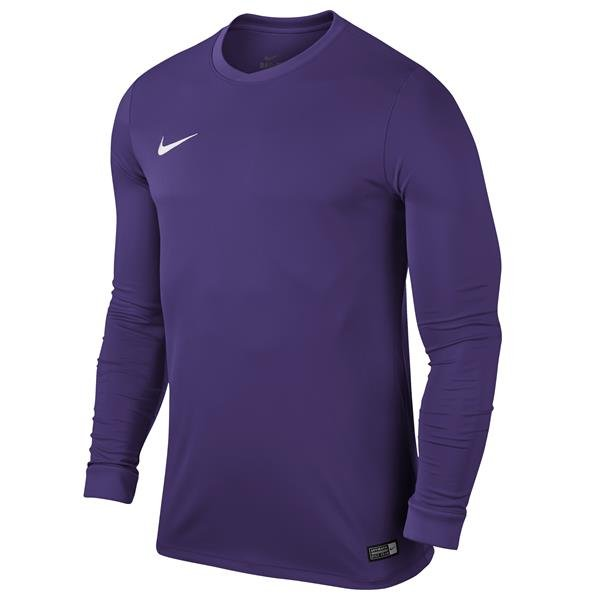 Nike Park VI LS Football Shirt Court Purple/White