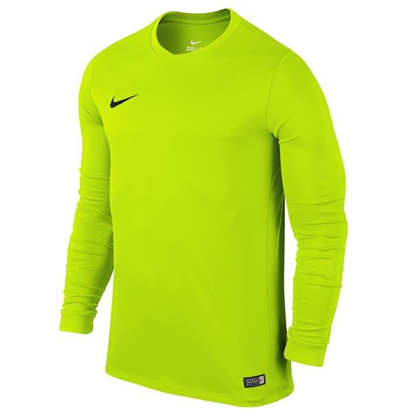 Nike Park VI LS Football Shirt Volt/Black