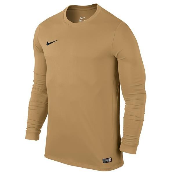 Nike Park VI Long Sleeve Football Shirt Jersey Gold/Black