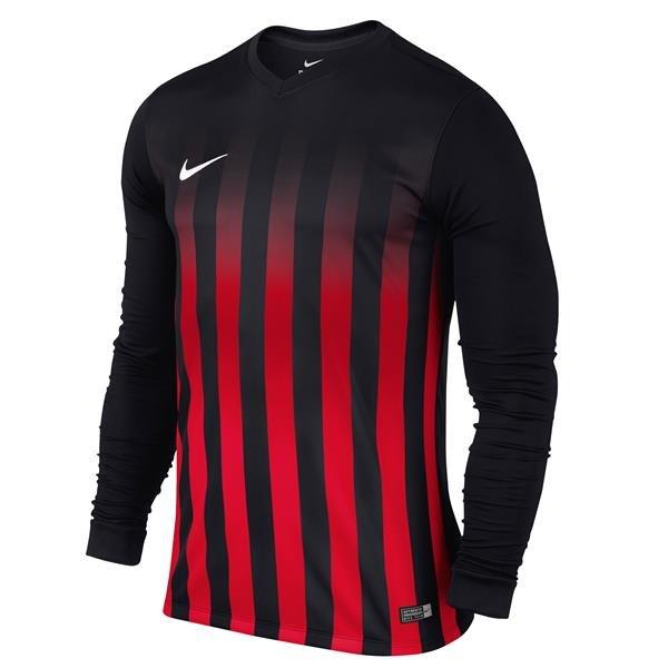 Nike Striped Division II Long Sleeve Football Shirt White/black