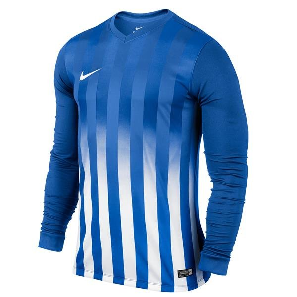 Nike Striped Division II Long Sleeve Football Shirt Black/white