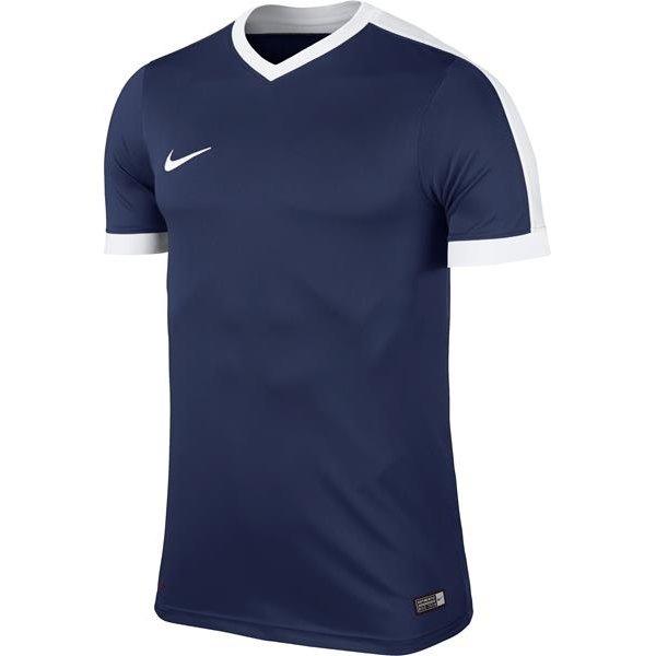 Nike Striker IV Short Sleeve Football Shirt Midnight Navy/White