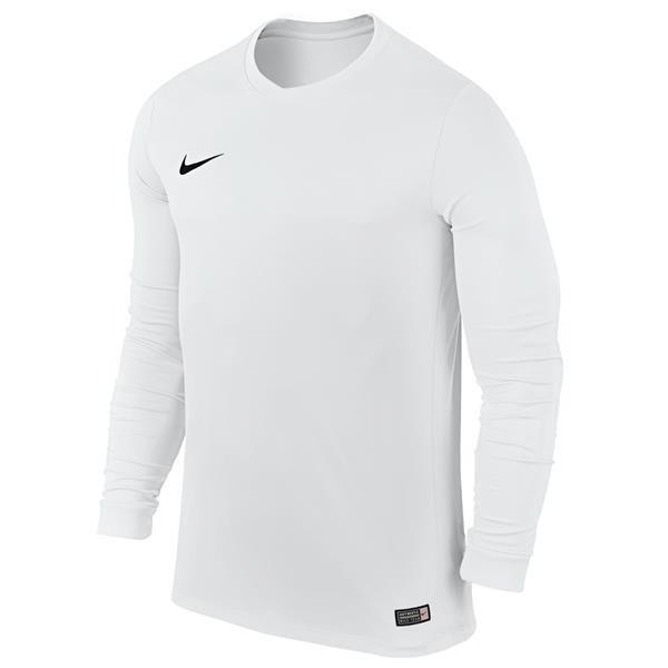 Nike Park VI LS Football Shirt White/Black Youths