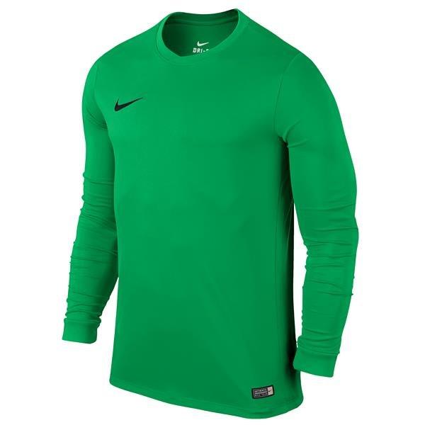 Nike Park VI LS Football Shirt Hyper Verde/Black Youths