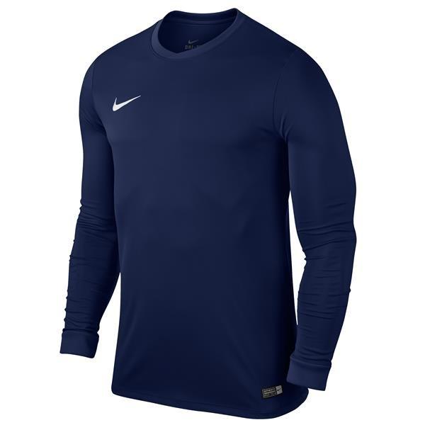 Nike Park VI LS Football Shirt Midnight Navy/White Youths