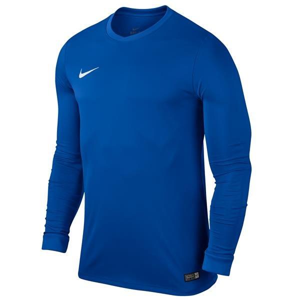 Nike Park VI LS Football Shirt Royal Blue/White Youths