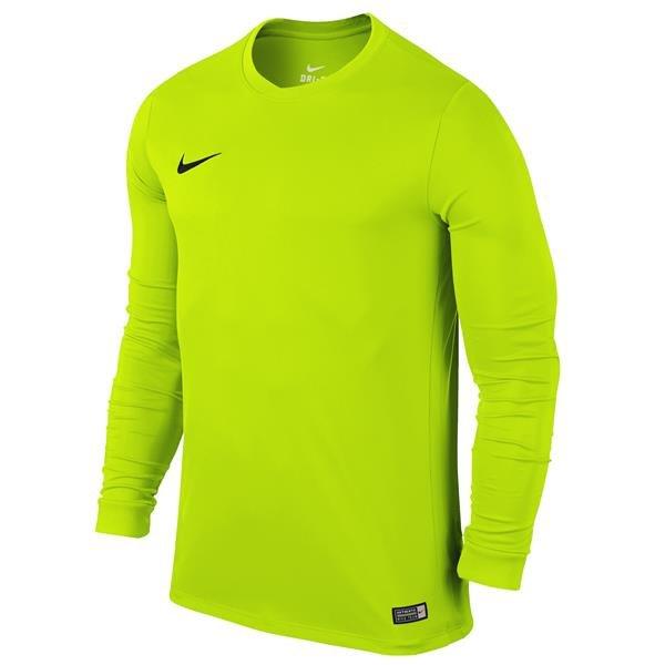 Nike Park VI LS Football Shirt Volt/Black Youths