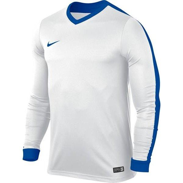 Nike Striker IV LS Football Shirt White/Royal Blue Youths