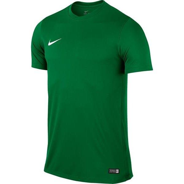Nike Park VI SS Football Shirt Pine Green/White Youths