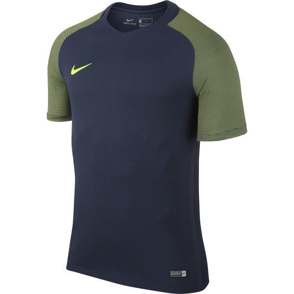 Nike Revolution IV SS Football Shirt Midnight Navy/Volt