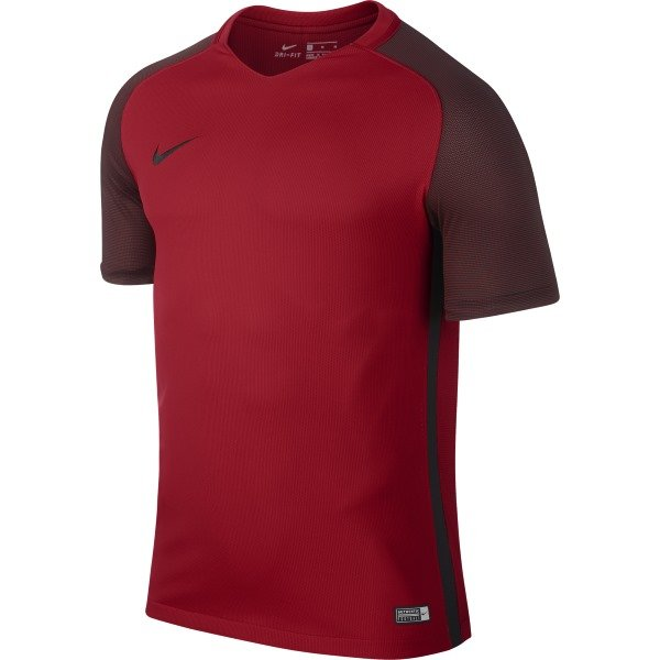 5d8dbdedcfd0 Nike Revolution IV Short Sleeve Football Shirt University Red Black