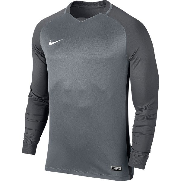 Nike Trophy III Long Sleeve Football Shirt White/wolf Grey