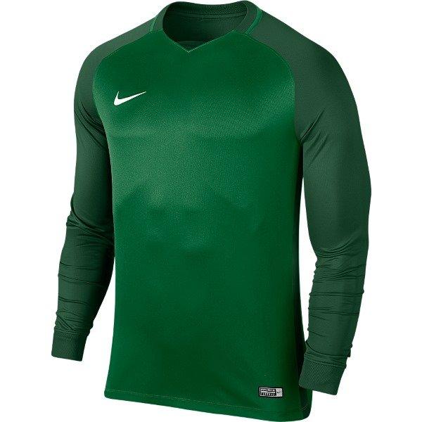 Nike Trophy III LS Football Shirt Pine Green/Gorge Green