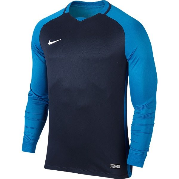 Nike Trophy III LS Football Shirt Mid Navy/Lt Photo Blue