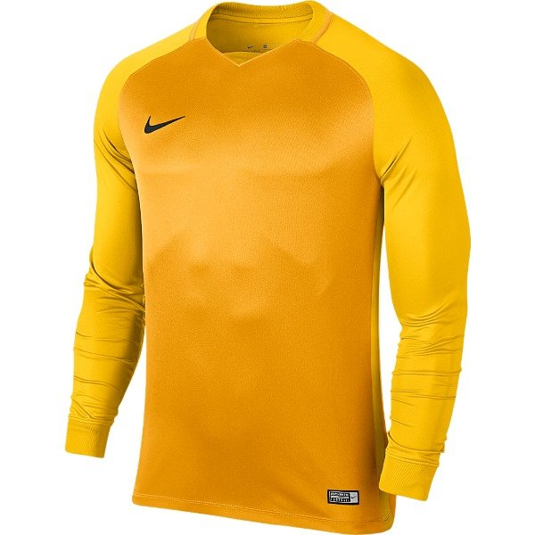 Nike Trophy III Long Sleeve Football Shirt University Gold/Tour Yellow